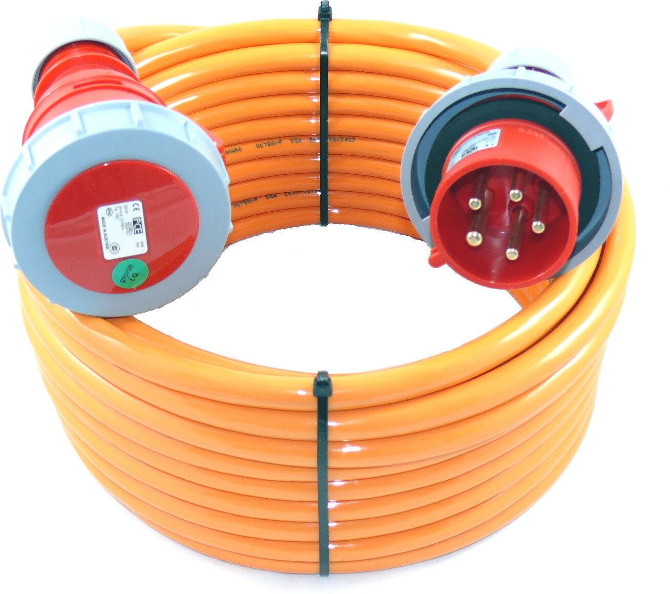 m CEE Verlängerungskabel mit PW wasserdicht H07BQ 5G4 5x4 32A IP67 45m
