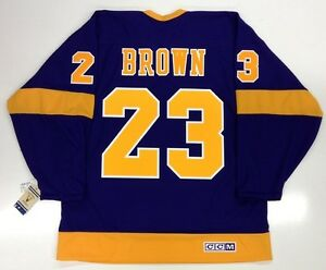 get cheap 42d3a 72971 Details about DUSTIN BROWN LOS ANGELES KINGS VINTAGE CCM PURPLE JERSEY