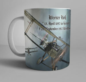 wwi german patriotic mug werner voss ww1 flying ace pour le merite jasta10 ebay. Black Bedroom Furniture Sets. Home Design Ideas