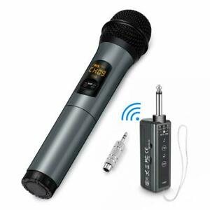 Wireless-Karaoke-Microphone-10-Channel-UHF-Bluetooth-System-Dynamic-Cordless