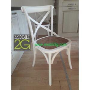 Dettagli su Sedie in legno colorato effetto bianco invecchiato arredamento shabby vintage cl