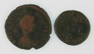 Roman-Empire-2-coin-Set-378-Emperor-Valens-AE3-383-Emperor-Gratian-AE2