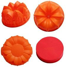 Daisy Sunflower Flowers Round Jelly Silicone Cake Mould Mold Baking Tins Pans