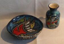 Keramik 50er Vintage Sgraffito Technik San Marino Italian FANTONI Ära CERAMIC