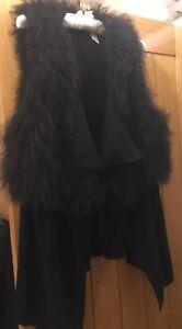 £ di misura cappuccio Bn con 295 di lana in 16 Gilet Rrp pelle agnello basler SwxRW