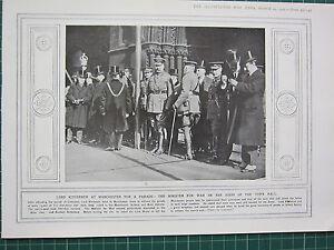 1915 Première Guerre Mondiale G.mondiale 1 Imprimé ~ Lord Kitchener à Manchester Zkdmjey7-08000445-161538192
