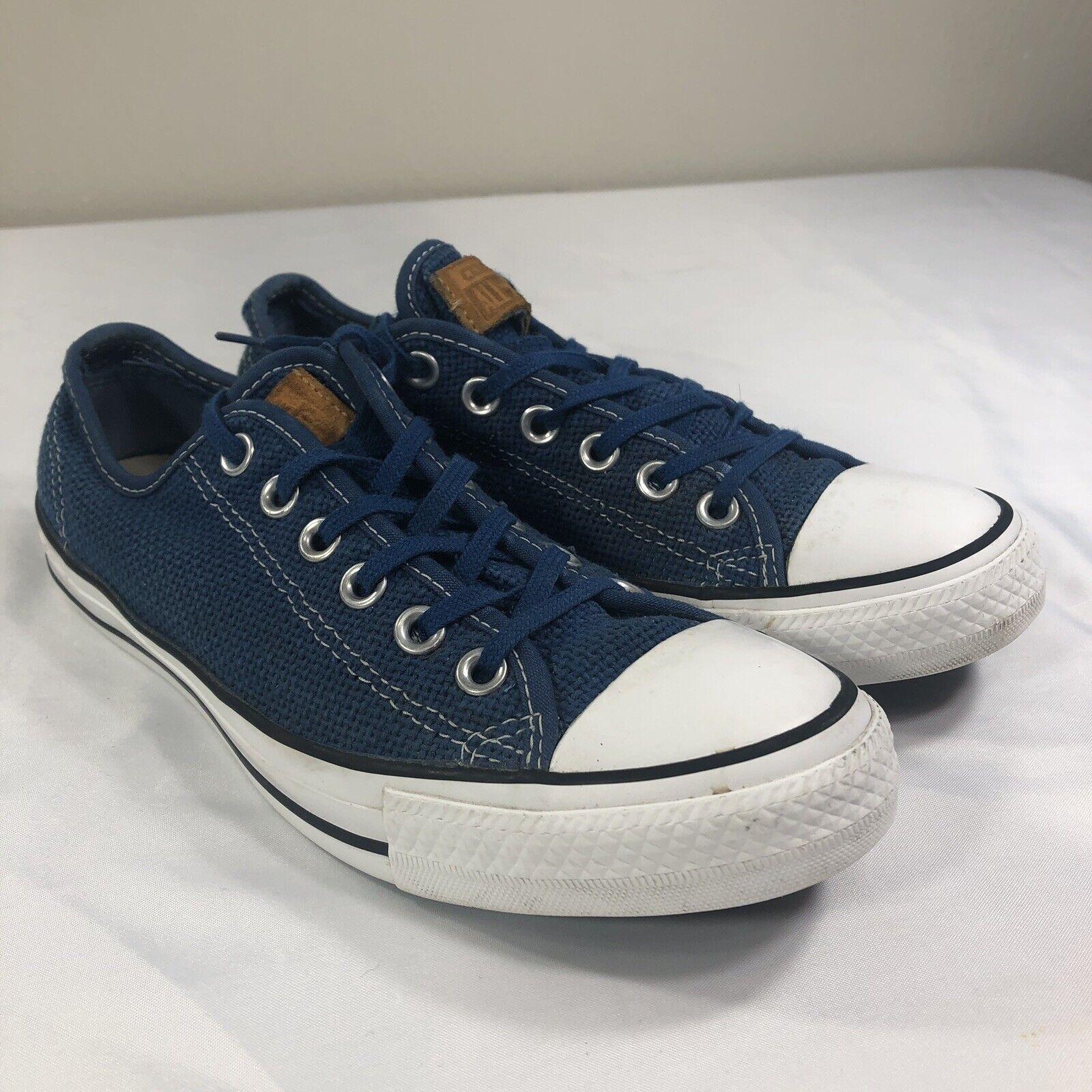 Converse All Star Chuck Taylor Men's 6.5 Women 8.5 Sneakers Woven bluee Low Top