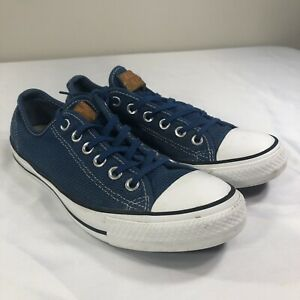Details about Vintage Mens Blue Suede Converse All Star Low Sneakers Red Line Size 8