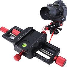 150mm Makro Kreuzschlitten Nahaufnahmen Kamerahalterung für Stativ Kugelkopf