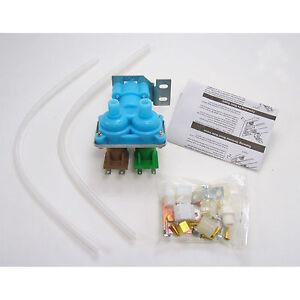 Dual Water Valve Kit Refrigerator Water Dispenser Ice