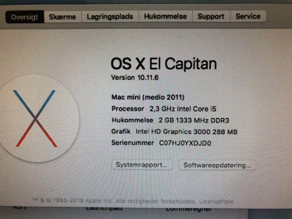 Mac mini, Medio 2011, 2.3 i5 GHz