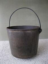 Antique Kettle #8 3-Leg Cast Iron Primitive Bail Handle, Cauldron, Pot, Gatemark