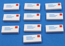 Fliese-Kachel --1 x 2 Bedruckt Lego--3069bp61 Weiß//bunt