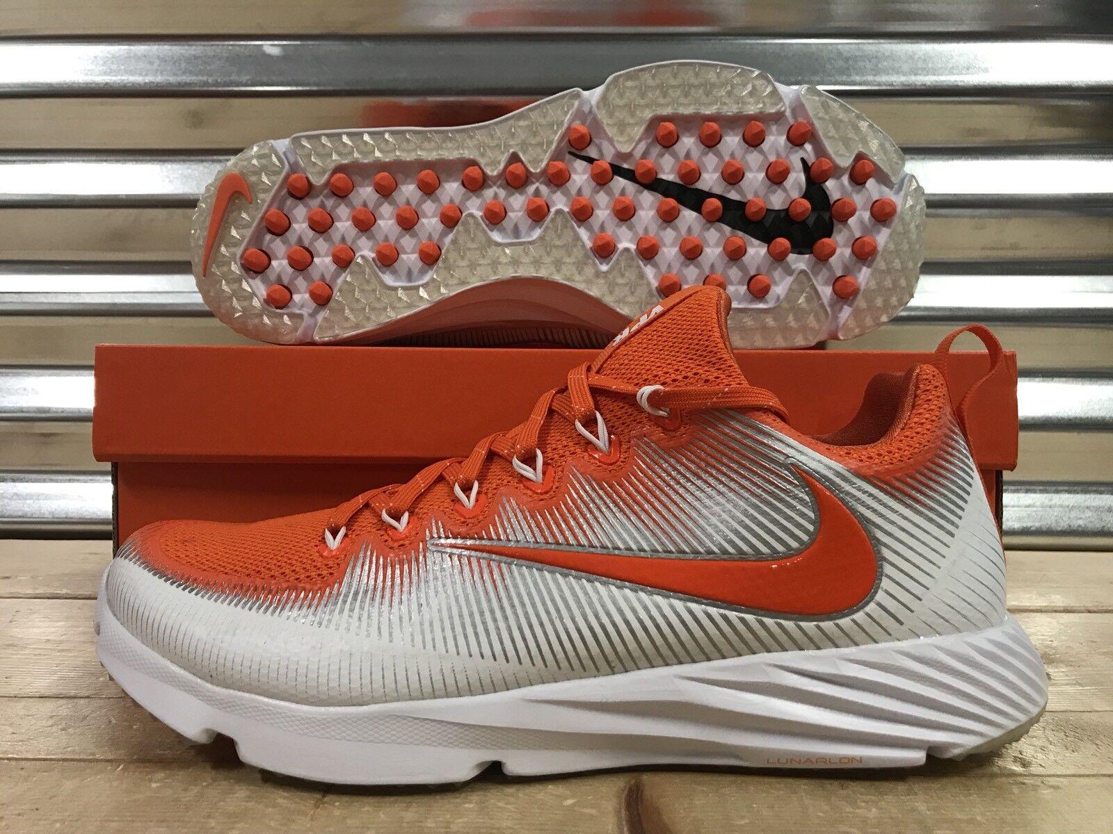 Nike Vapor Speed Turf Football LAX Trainers Orange White Clemson ( 848334-882 )