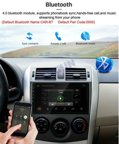 """9/"""" Android 9.1 Quad-core Stereo FM Radio GPS WIFI 3G//4G For Toyota Corolla 06-12"""