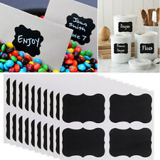 36x Cheap Chalkboard Chalk Black board Mason Jar Labels Stickers Tags Practical