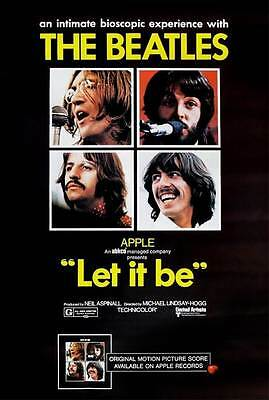 THE BEATLES - Canvas Print Concert Poster- Let It Be.
