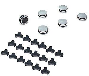 "Spectre 14085 Piston-Style Chrome Billet Bolt Caps 1/2"" (12-13mm) Pack of 6"