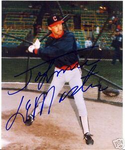 JOHNNY LEMASTER CLEVELAND INDIANS SIGNED 8X10 PHOTO