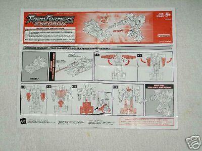Transformers Energon Skyblast instructions C9