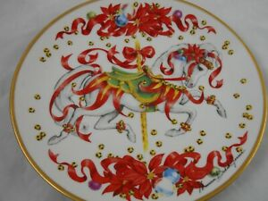 1991 Christmas Steed Collector Plate Carousel Horse By Maureen Jensen Am Lung As Ebay