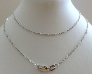 9ct-Solid-White-Gold-Belcher-Fine-Chain-Necklace-45cm-039-s-18-Inches-N52