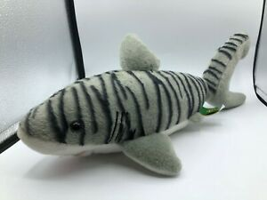 Wild-Republic-Grey-Tiger-Shark-Fish-Plush-Kids-Soft-Stuffed-Toy-Animal-Doll