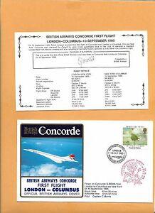 HonnêTeté Concorde Sst British Airways Premier Vol Londres Columbus Sep 10 1985 Dans La Douleur