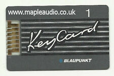 Blaupunkt Casablanca CM62 7 643 460 512 Keycard No 1 - Brand New Genuine Part