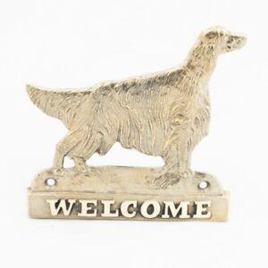 Setter Irlandais Rouge - Plaque De Laiton Avec Un Chien 'welcome' Art Dog Fr