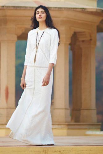 Twelfth Street by Cynthia Vincent Karimala Maxi Lace Dress Ivory NWT SZ 0