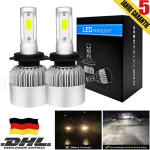 2X-H7-200W-LED-Scheinwerfer-HEADLIGHT-HI-LO-Kit-Weiss-6500K-25000LM-Canbus-Weiss