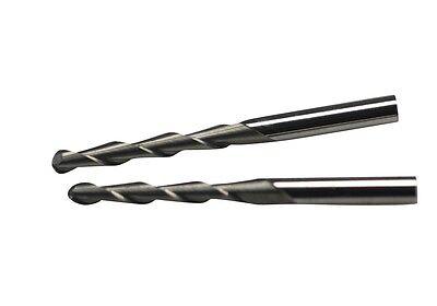 """5x 1/8"""" Shank 2 Flute Ball-nose End Mill Tungsten Carbide Spiral Cutter 3.175*25"""