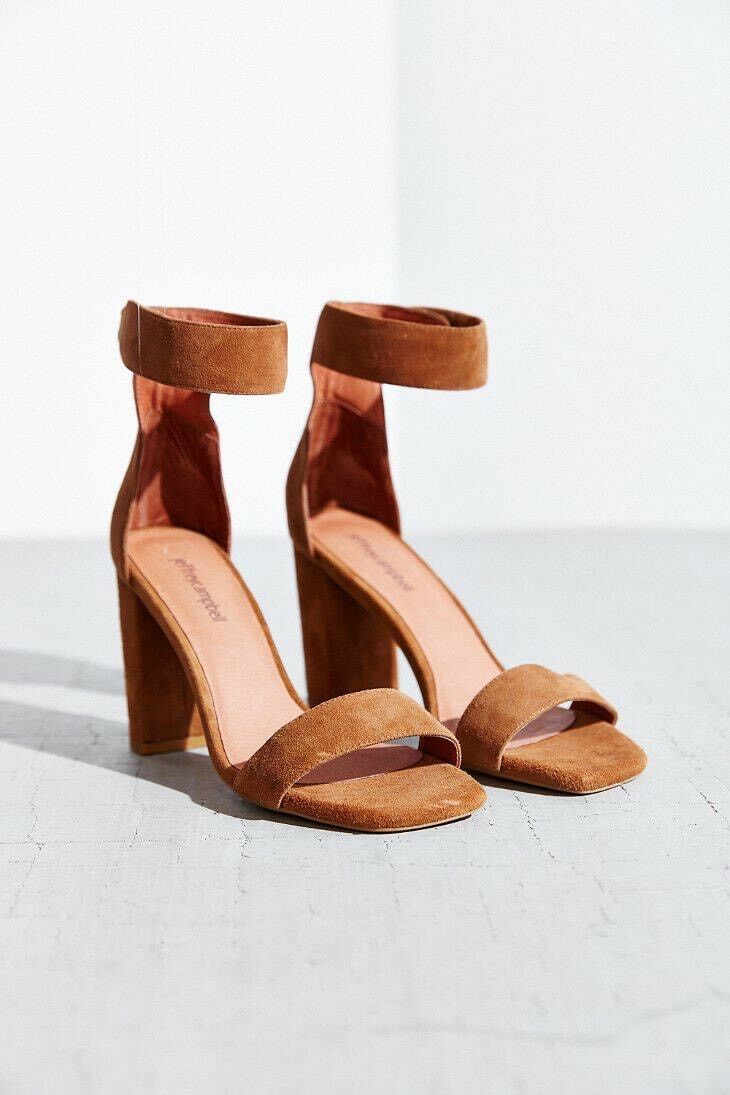 Jeffrey Campbell Holvey Suede Sandal Heel  Size 9.5 NEW MSRP   130