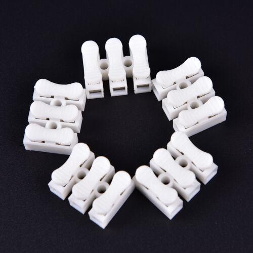 20 Pcs Self Locking mini 3Pin Cable Connectors Quick Splice Lock Wire YH