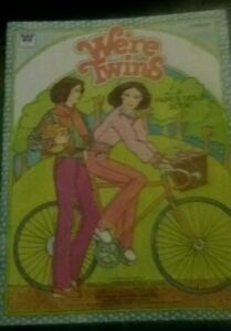 Vintage 1981 WE'RE TWINS Paper Doll Book