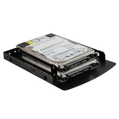 "EverCool HDB-25351 Dual 2.5"" SSD HDD To 3.5/"" Aluminum Mounting Adapter Bracket"