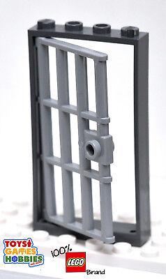 LEGO City Police Station Black 1x4x6 Door Frame with Gray Jail Door