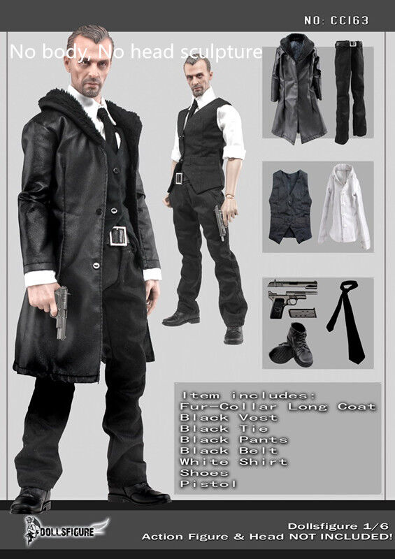 1 6 Dollsfigure Gothic Big Bredher Dress Up Cool Men's Leather & shoes Toys Gift