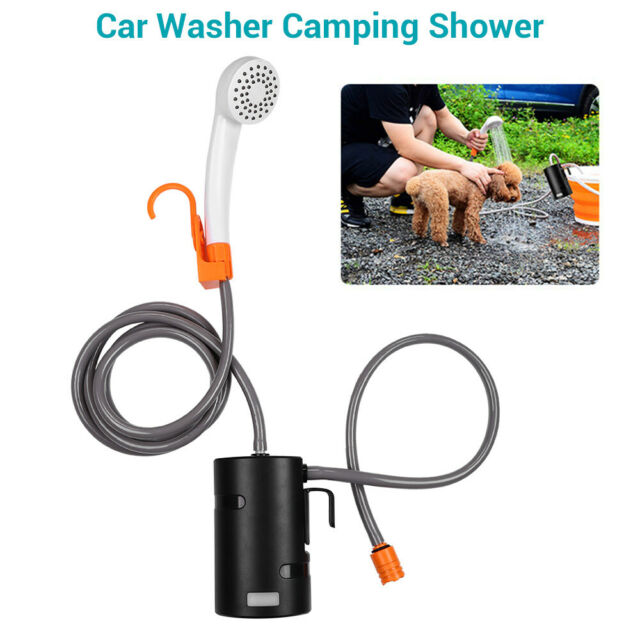 Portable Outdoor Camping Shower 4400mAh Battery Powered Shower Pump for Car Pet