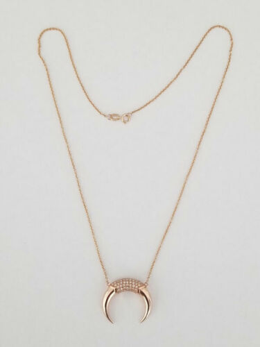 Carbon & Hyde 14K Rose Gold Diamond Horn Shaped Dh