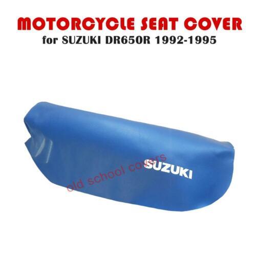 Motorrad Sitzbezug Suzuki DR650 R DR650R 1992-1995 Blau
