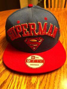 najlepszy hurtownik gorący produkt dostępność w Wielkiej Brytanii Details about New Era 9Fifty DC Comics Superman Snapback Flatbill Hat With  Sticker