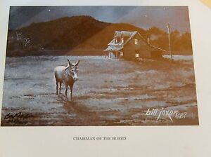 bill jaxon chairman of the board signed numbered print ebay