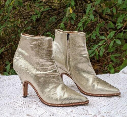 Maison Martin Margiela Booties Gold Metallic Boots