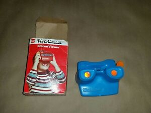 Vintage-GAF-tyco-3-D-View-Master-Projector-Toy-Retro-blue-Orange-Handle-with-box