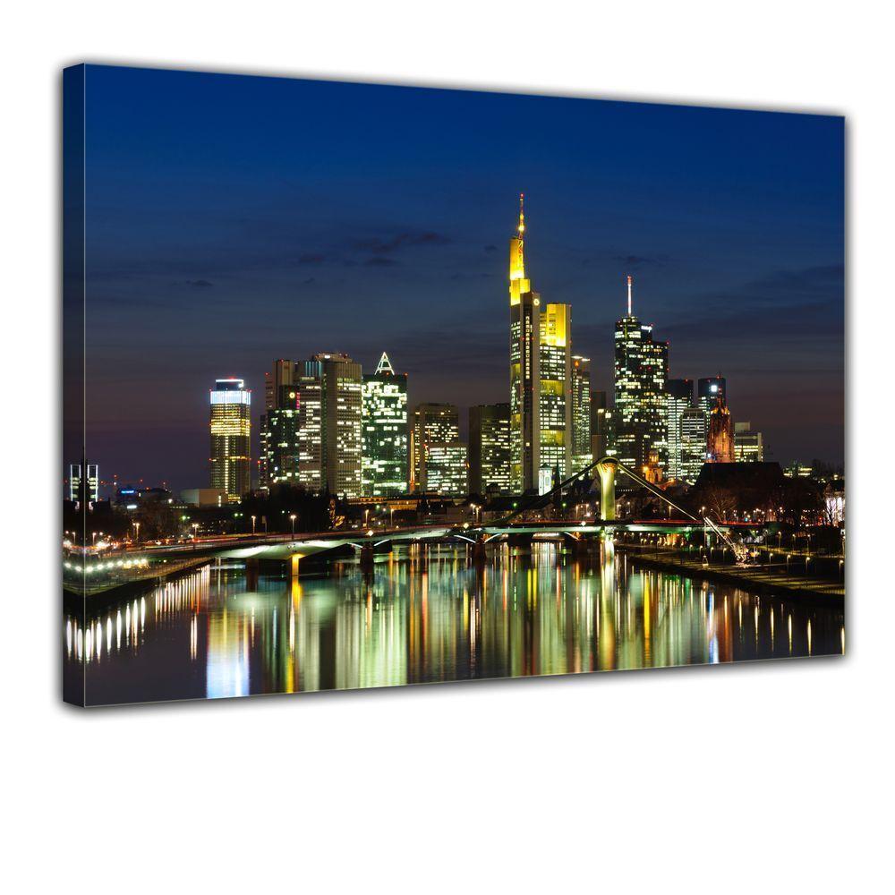 Tela-Francoforte Skyline di di di notte-Germania fd03fb