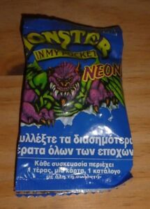 MONSTER-IN-MY-POCKET-NEON-MIMP-SERIES-1-BRAND-NEW-amp-SEALED-BOOSTER-PACK-U-RARE