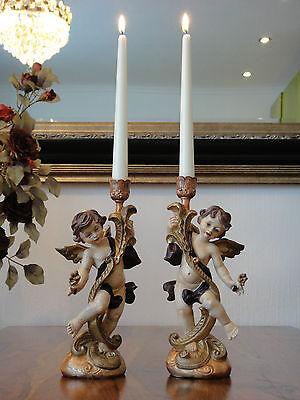 Kerzenleuchter Set Engel Barock Leuchter Kerzenständer Antik Kerzenhalter gold