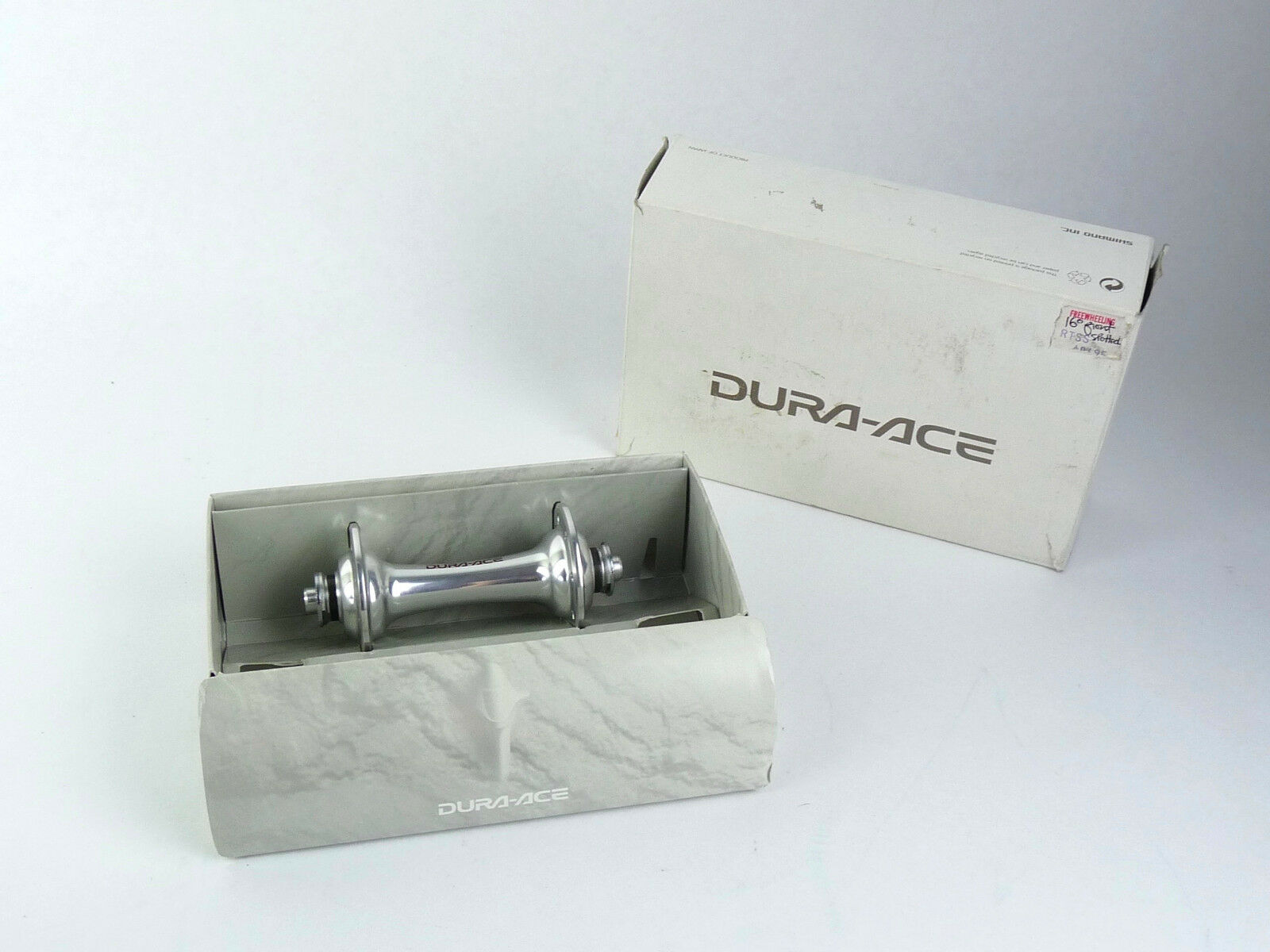 Shimano Dura Ace 7700 Front Hub Alloy Axle 16h slotted Vintage Racing Bike NOS